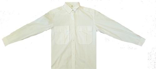 SALE! Qrap Pilotshirt Lange Mouwen - Wit - Maat 39/40