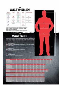 JMP Wear Maattabel-41