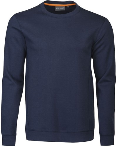 Mac One Bobby Crewneck Sweater-Navy-XS
