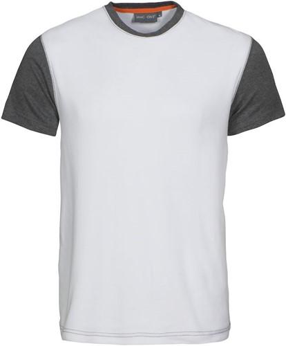 Mac One Joey T-shirt-XS-Wit/grijsmelêé