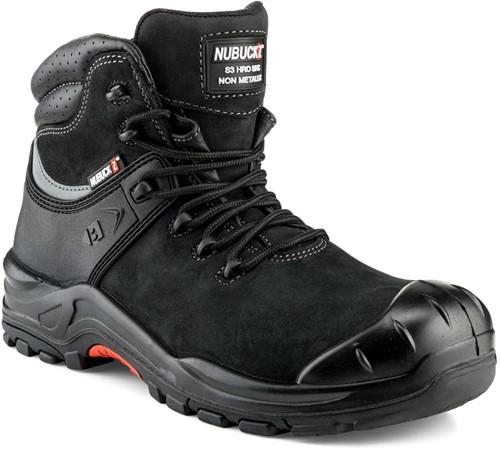 Buckler Boots Nubuckz Hoge Veiligheidsschoen S3 - Zwart