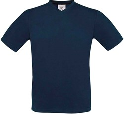 OUTLET! B&C Exact V-Neck T-shirt Navy - MAAT XL