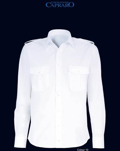 SALE! Giovanni Capraro 27004-36 Pilot Overhemd - Wit - Maat 42