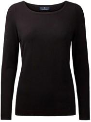 Clipper Corporate Dames trui met boothals - 109 | Zwart