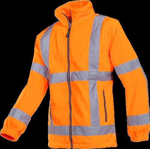 SALE! Sioen Berkel Signalisatie Fleece Jas (RWS)-Fluo Oranje - Maat M
