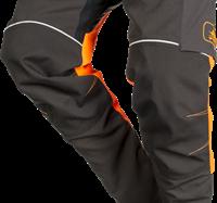 SIP Zaagbroek 1SRL-830 - Grijs/Fluo Oranje/Zwart - XS Kort-Grijs/Fluo Oranje/Zwart-XS Kort-2