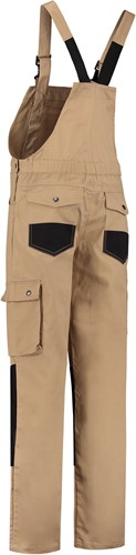 WW4A Tuinbroek Katoen/Polyester - Khaki/Zwart - Maat 44-2