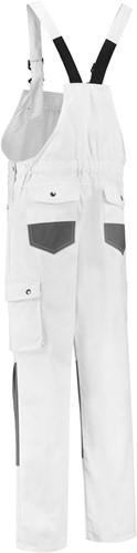 WW4A Tuinbroek Katoen/Polyester - Wit/Grijs - Maat 44