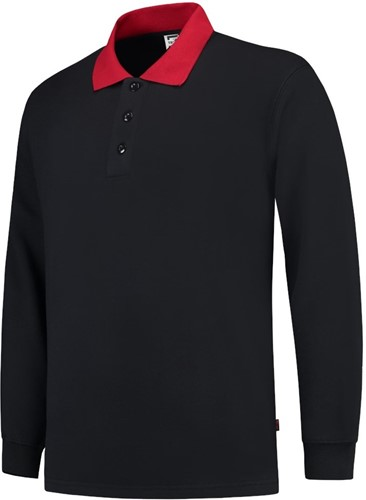 SALE! Tricorp PSC280 Polosweater Boord - Grijs/Rood - Maat XL