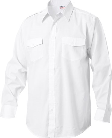 SALE! Texas Bull Pilot shirt - Wit - Maat M