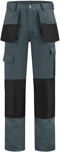 WW4A Werkbroek Polyester/Katoen - Grijs/Zwart