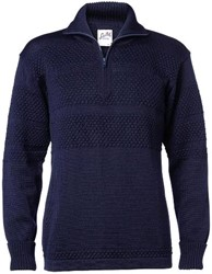 Clipper Corporate Heren trui met ritskraag, Matroos - 112 | Marineblauw